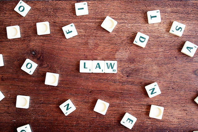 Law spelled out in blocks