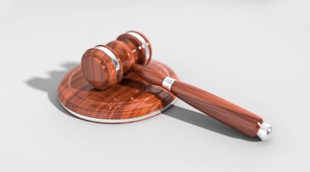 Judge's wooden gavel